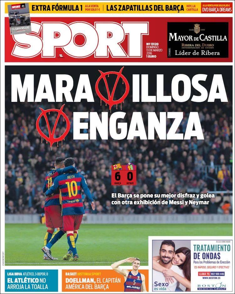 Sport Portada venganza 13.03.16