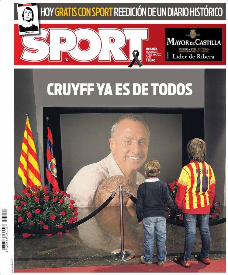 Sport Portada Cruyff 27.03.16