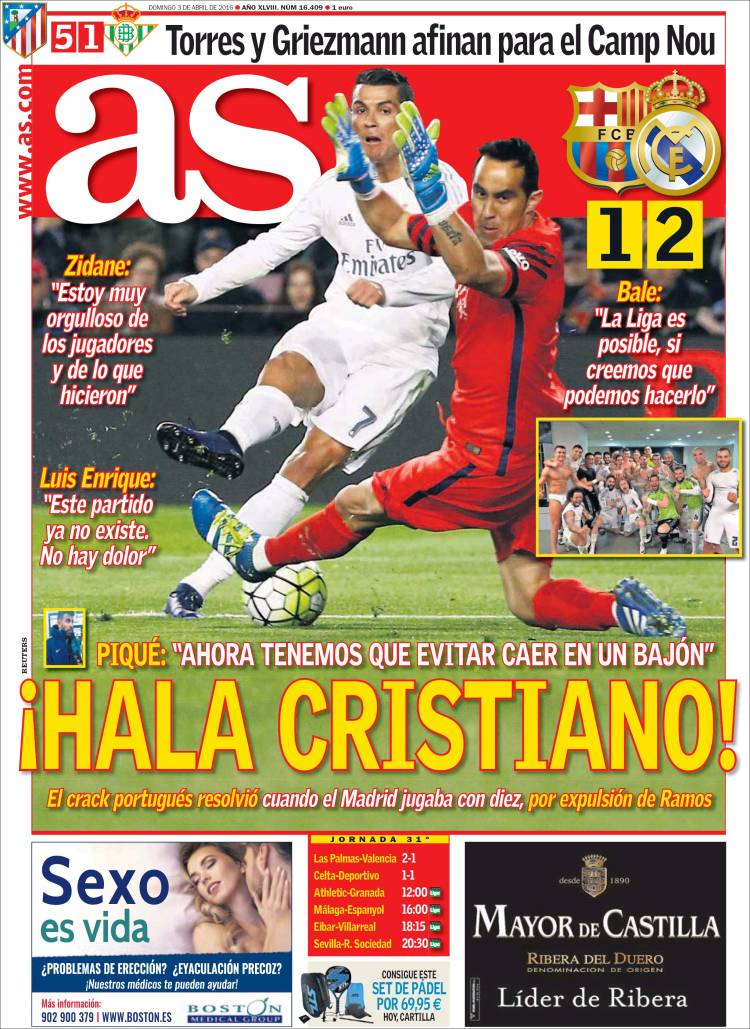 As Portada Hala Cristiano 03.04.16