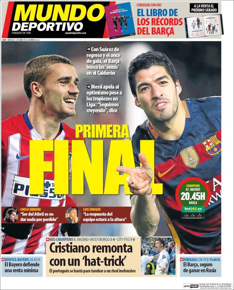 Mundo Deportivo Portada 13.04.16