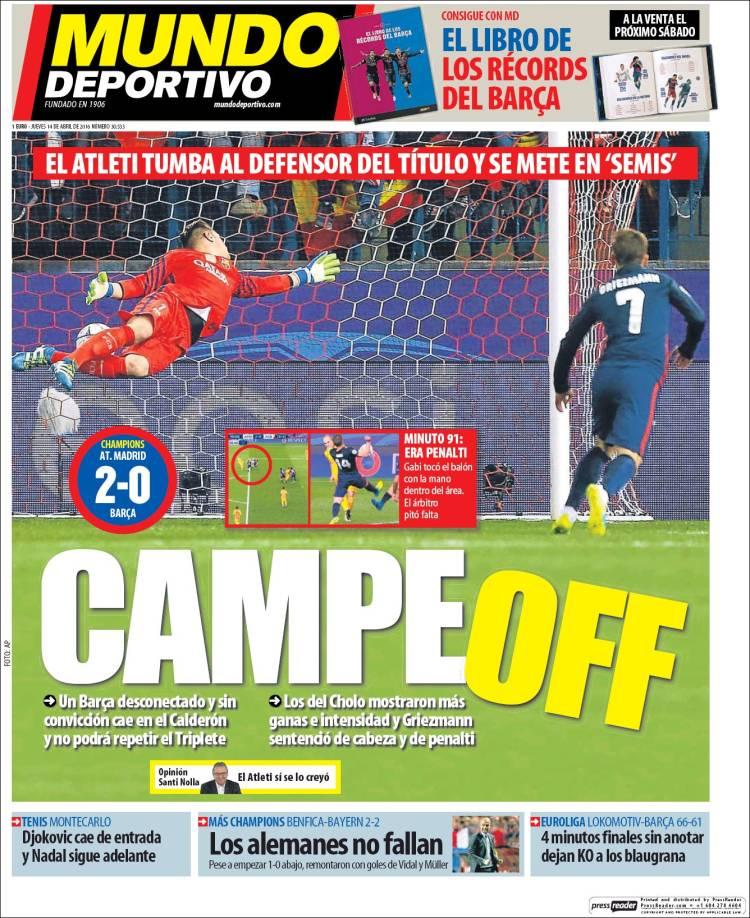 Mundo Deportivo Portada CampeOff 14.04.16