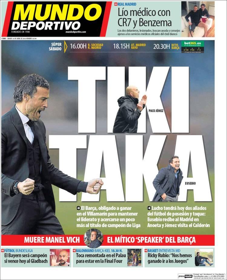 Mundo Deportivo TikiTaka 30.04.16