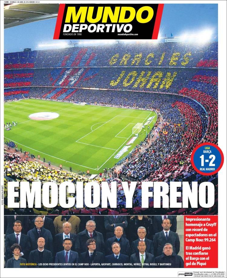 Mundo Deportivo Portada 03.04.16