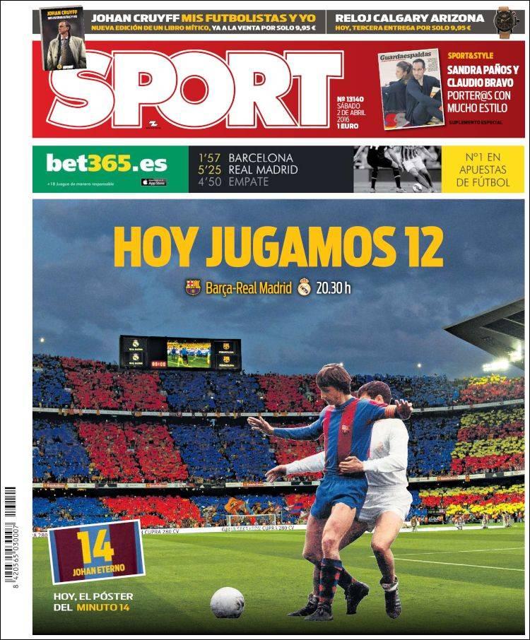 Sport Portada Clásico 02.04.16