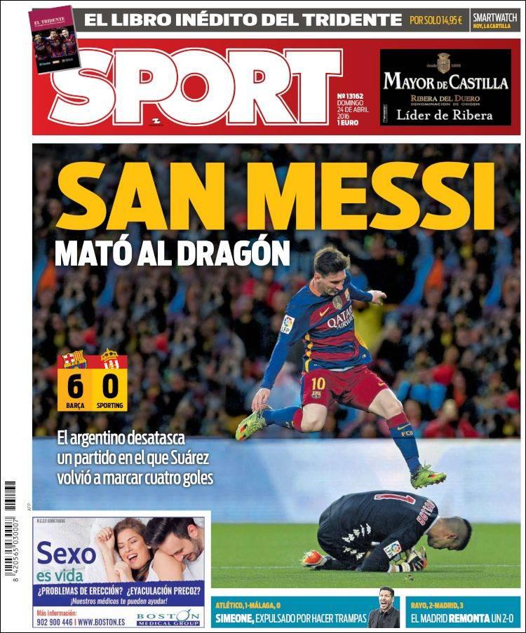 Sport Portada San Messi 24.04.16