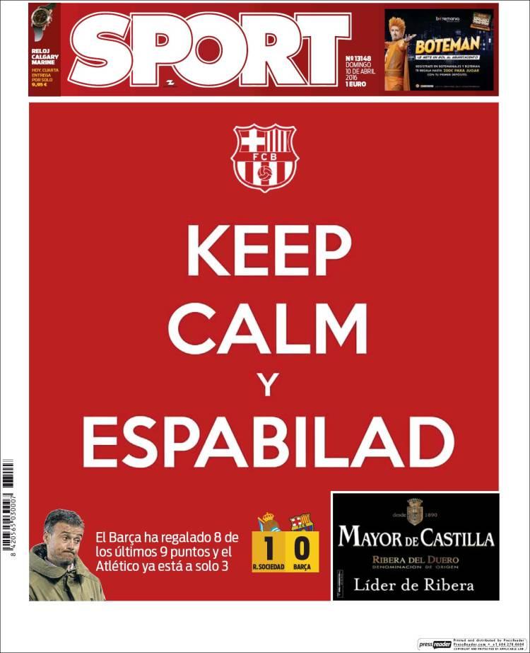Sport Portada Keep Calm 10.04.16