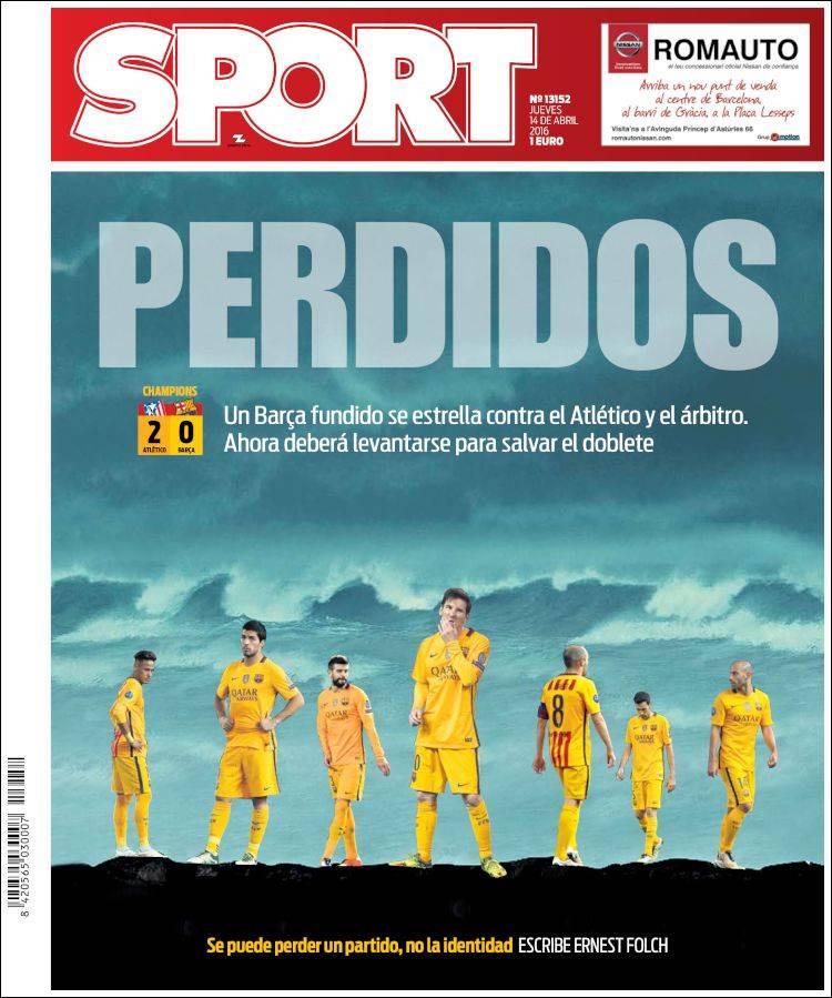 Sport Portada Perdidos 14.04.16