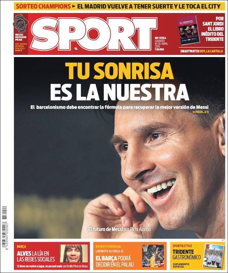 Sport Portada Messi 16.04.16