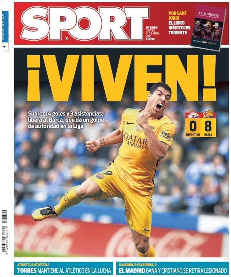 Sport Portada Viven 21.04.16