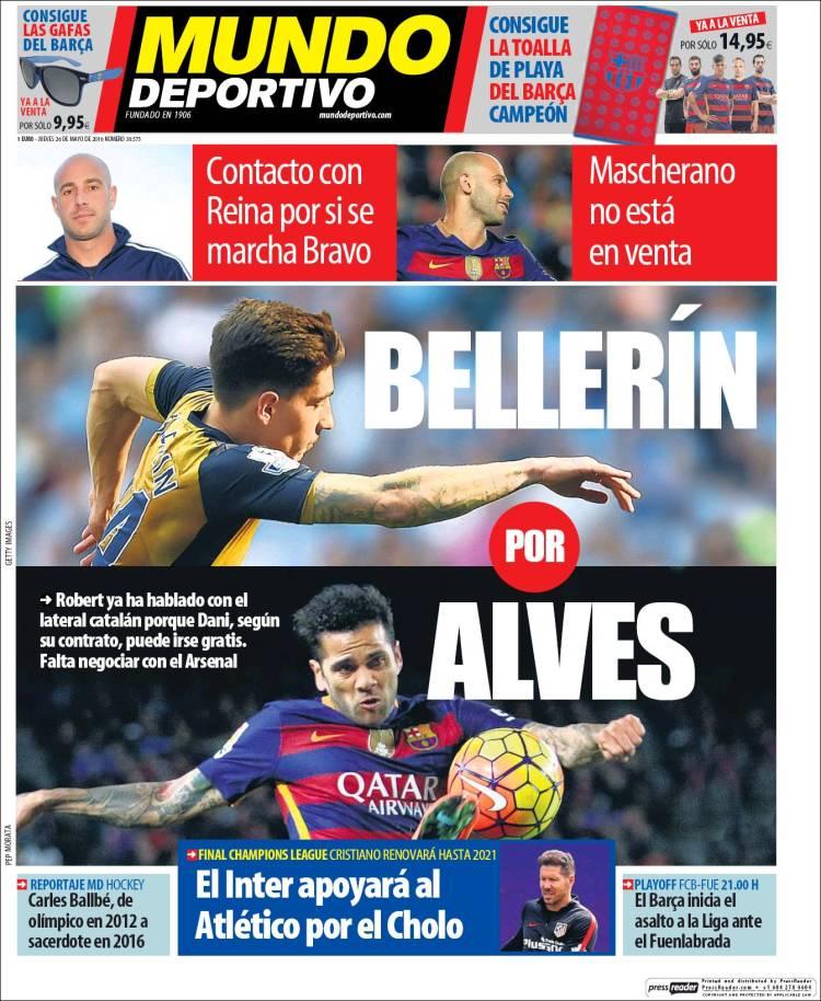 Mundo Deportivo Portada 26.05.16