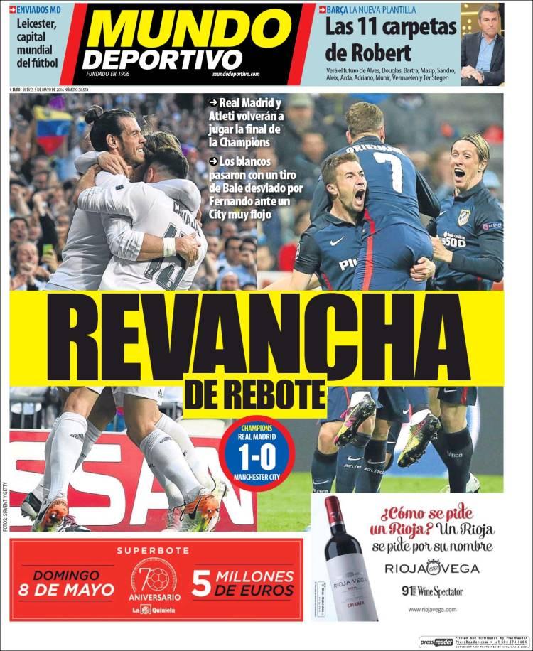 Mundo Deportivo Portada Rebote 05.05.16