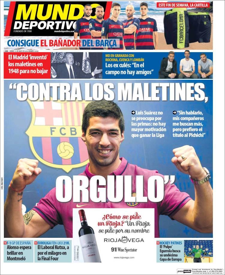 Mundo Deportivo Portada Maletines 13.05.16