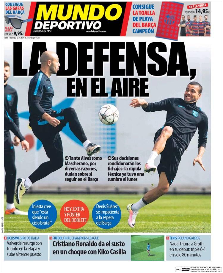 Mundo Deportivo Portada 25.05.16