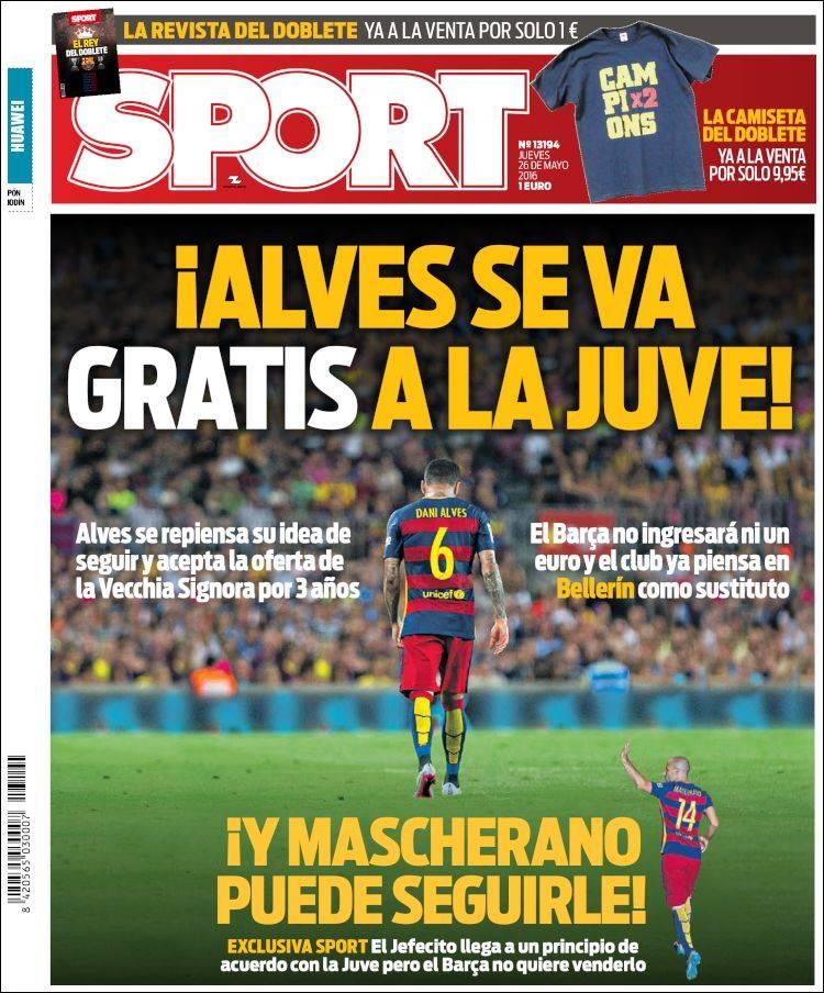 Sport Portada 26.05.16