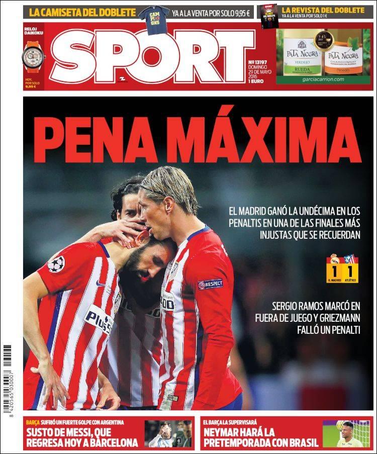 Sport Portada Undécima 29.05.16