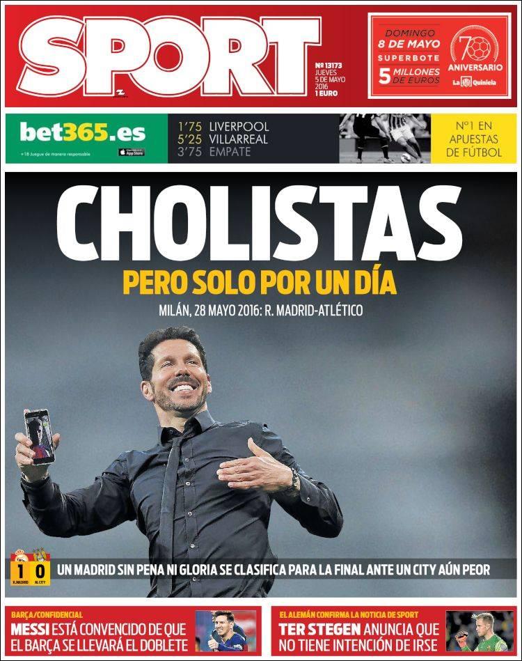 Sport Portada Cholistas 05.05.16