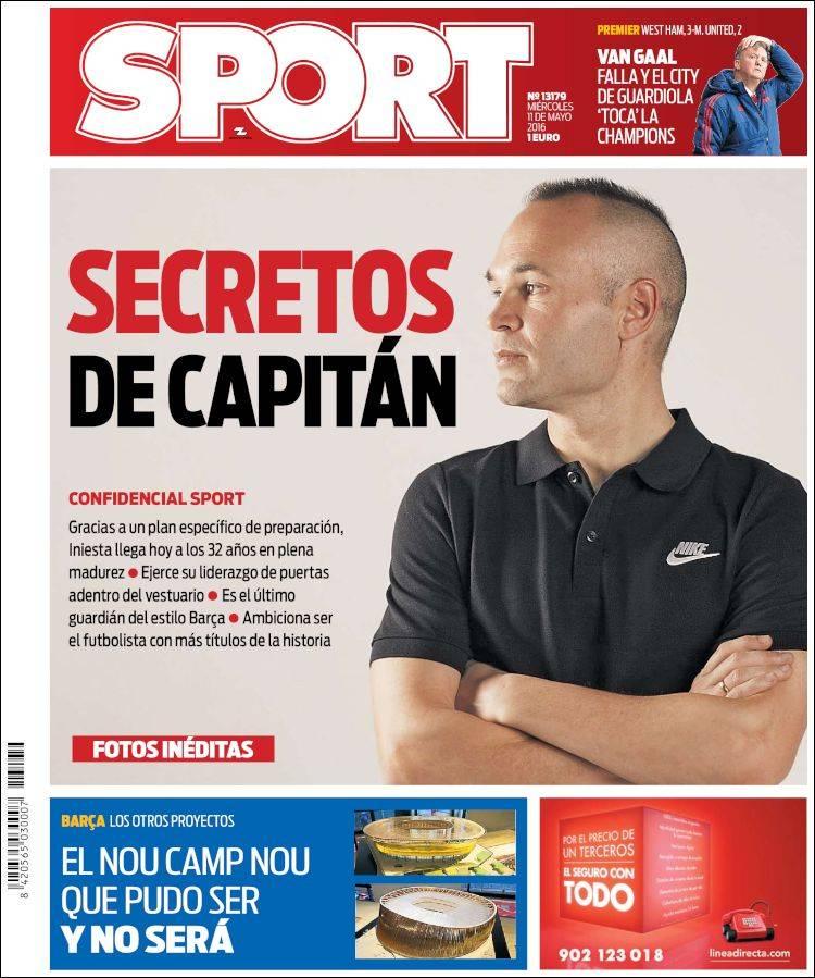 Sport Portada Iniesta 11.05.16