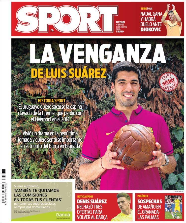 Sport Portada Luis Suárez 13.05.16