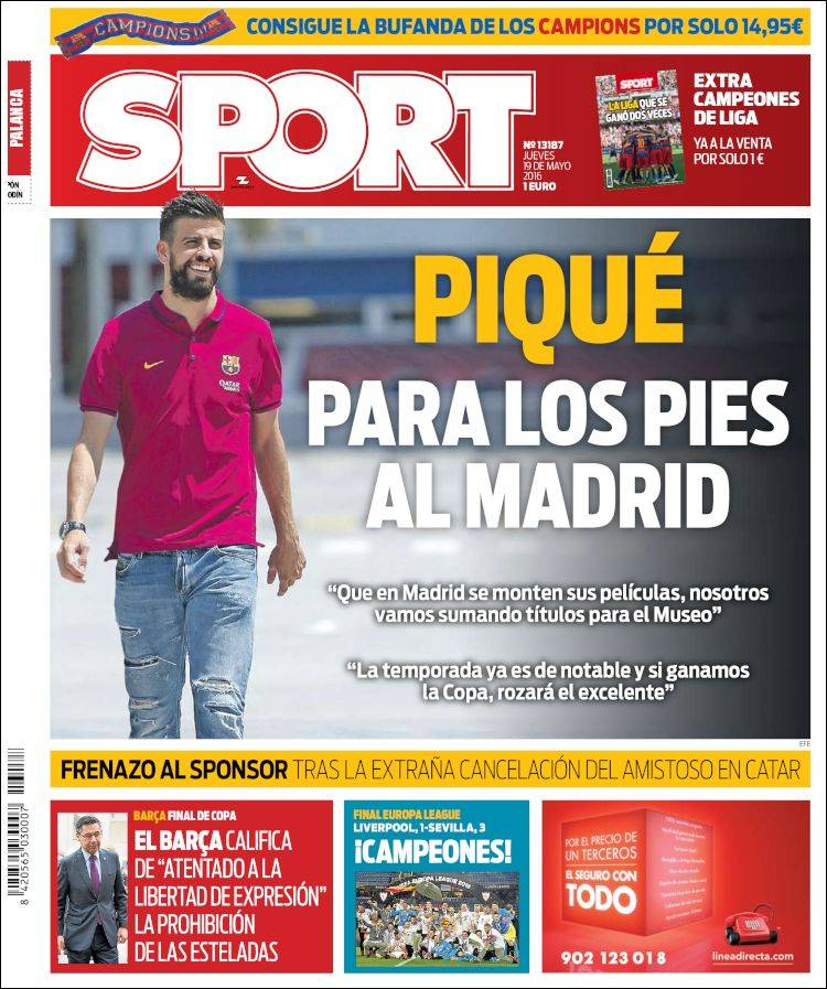 Sport Portada Piqué 19.05.16