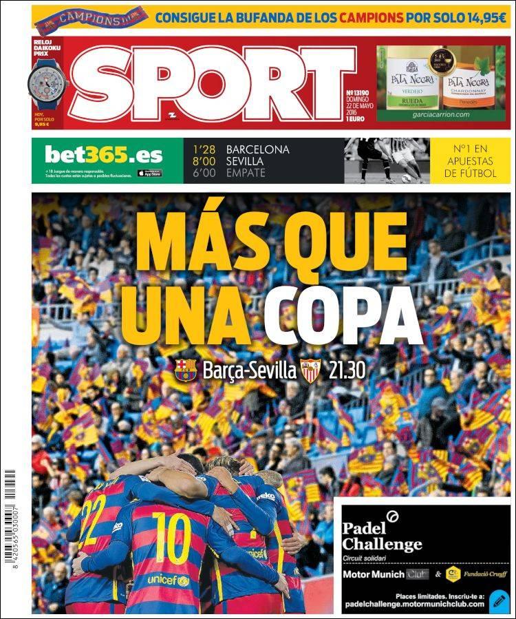 Sport Portada Más que una copa 22.05.16