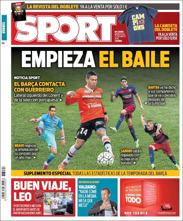 Sport Portada Baile 25.05.16