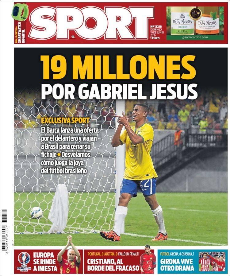 SPORT GABRIEL JESUS