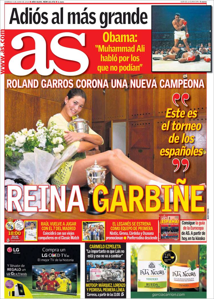 As Portada Garbiñe 05.06.16