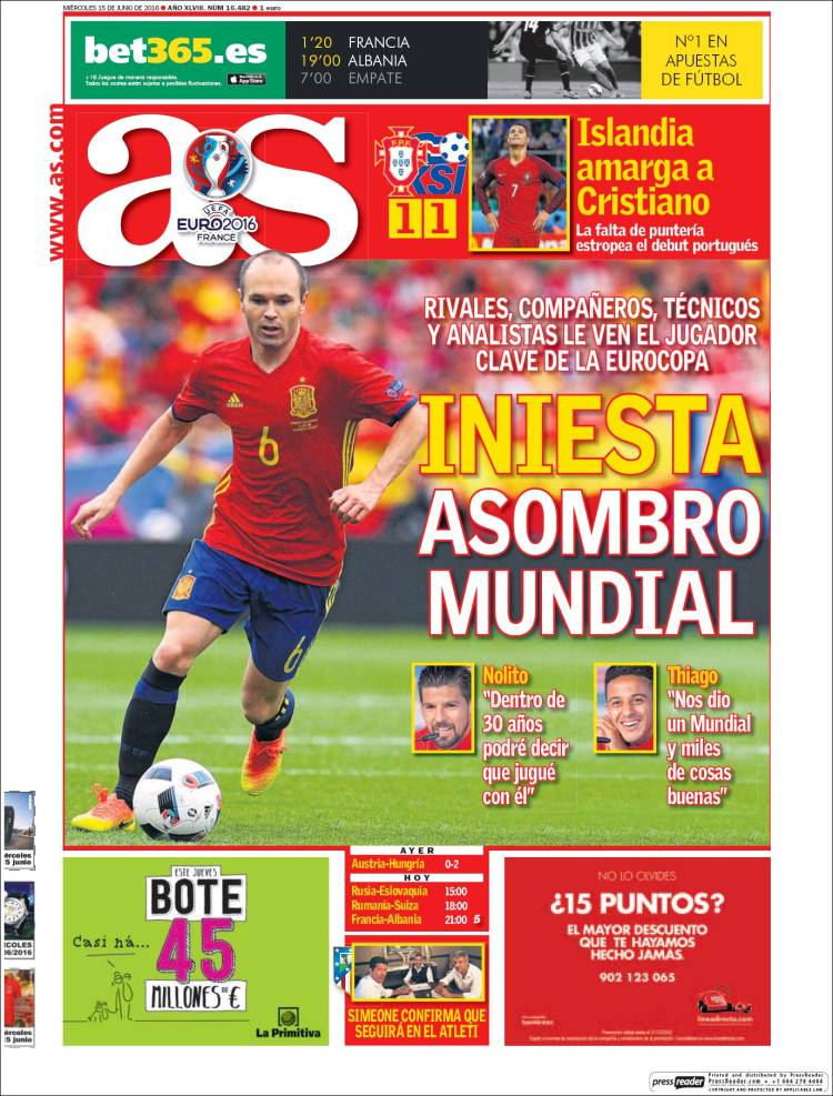 As Portada Iniesta 15.06.16