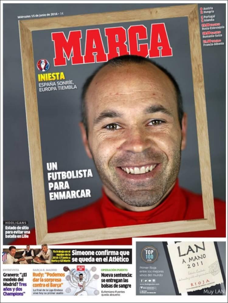 Marca Portada Iniesta 15.06.16