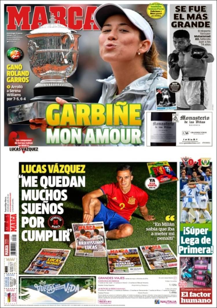 Marca Portada Garbiñe Lucas Vazquez 05.06.16