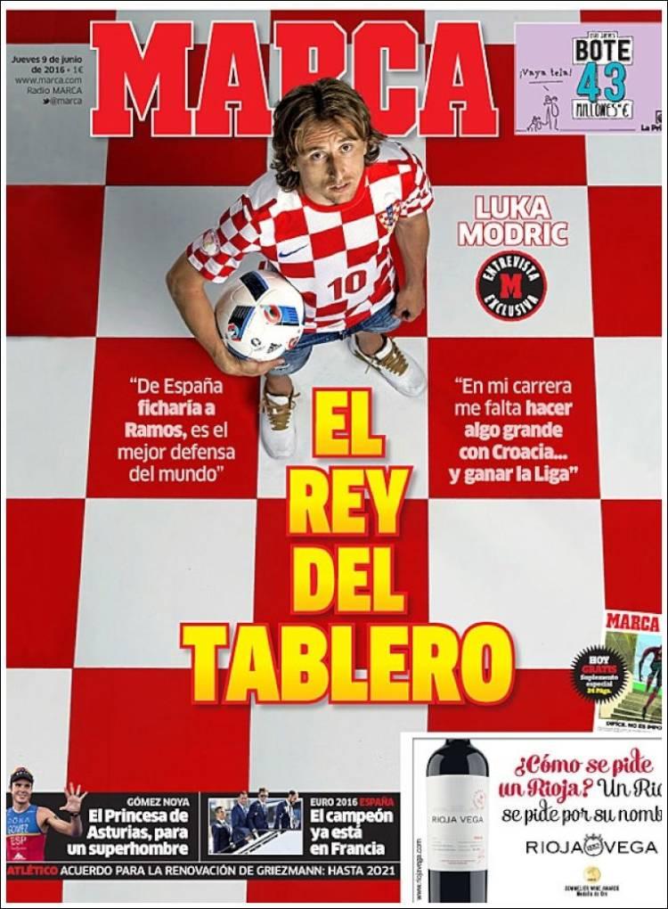 Marca Portada Modric 09.06.16