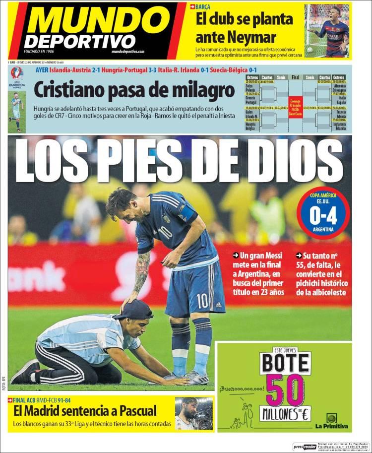 Mundo Deportivo Portada 23.06.16