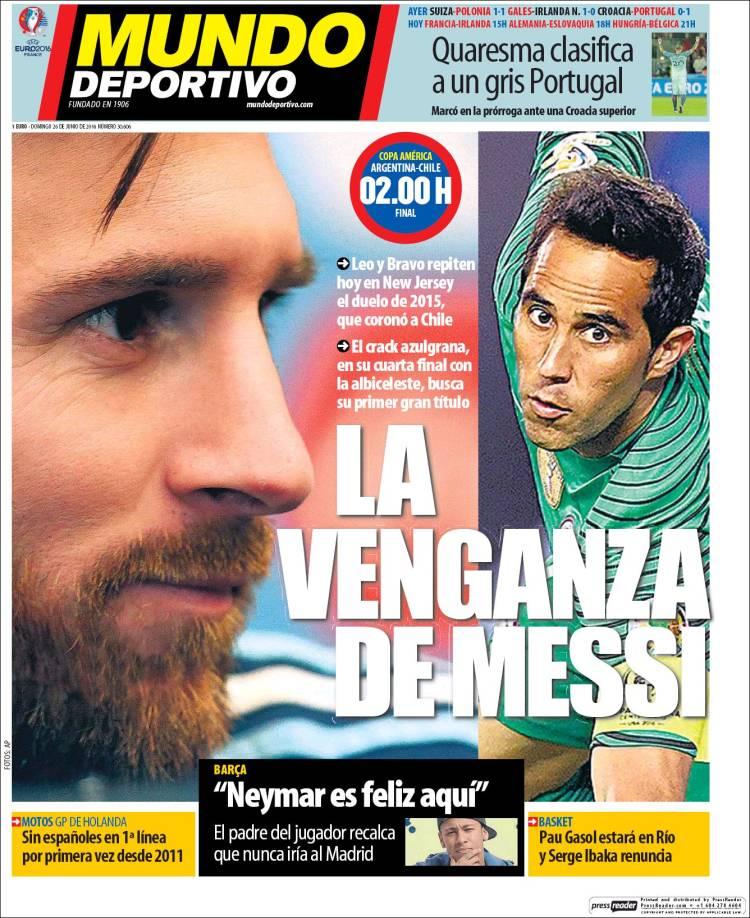 Mundo Deportivo Portada 26.06.16