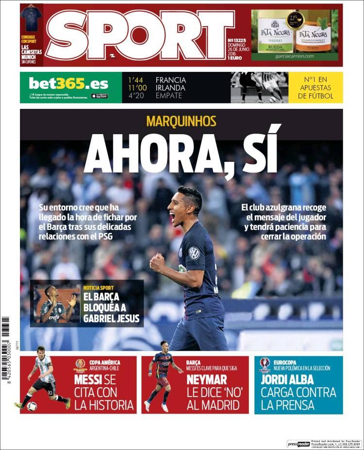 Sport Portada 26.06.16