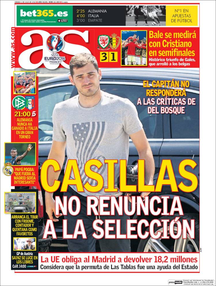 As Portada Casillas 02.07.16