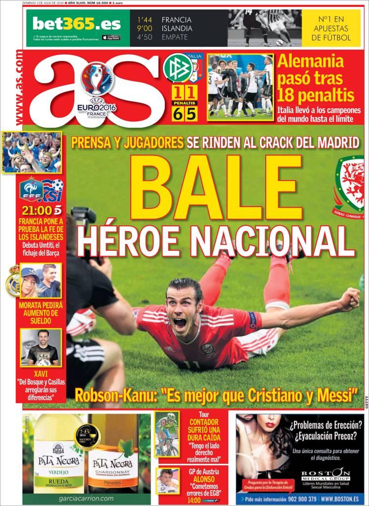 As Portada Bale 03.07.16