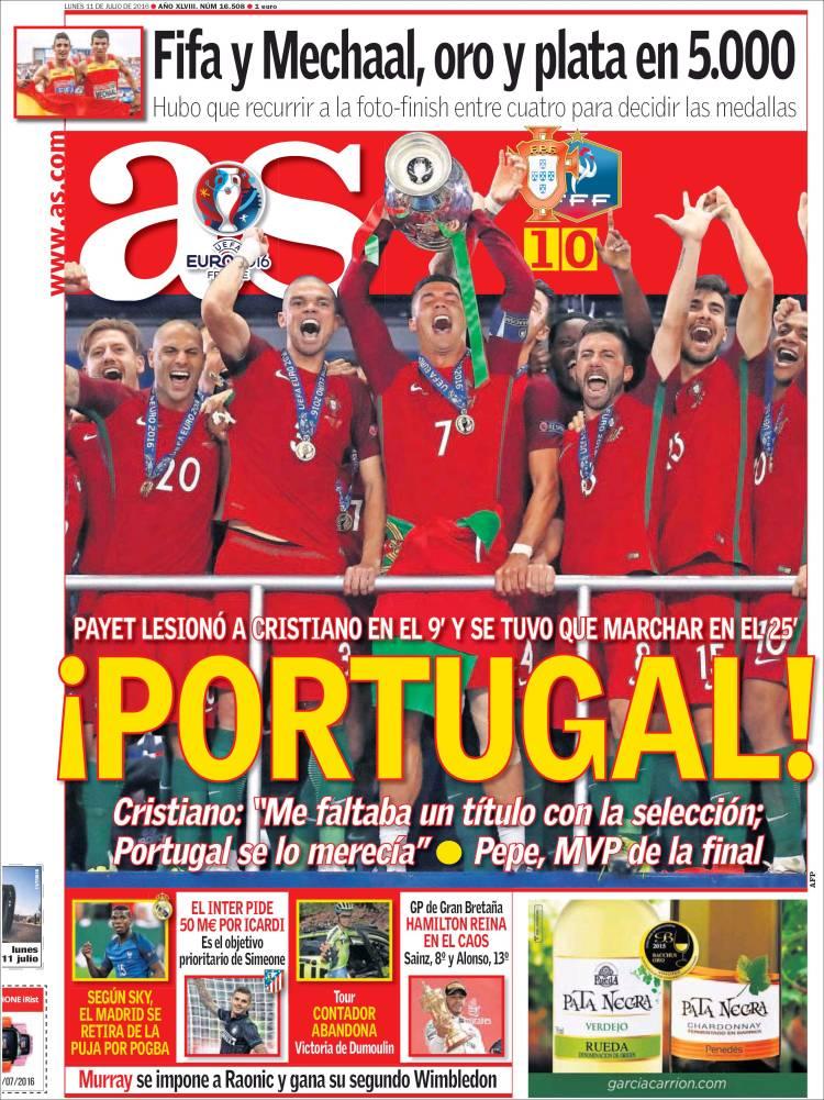 As Portada Portugal 11.07.16