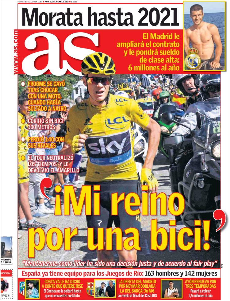 As Portada Froome 15.07.16