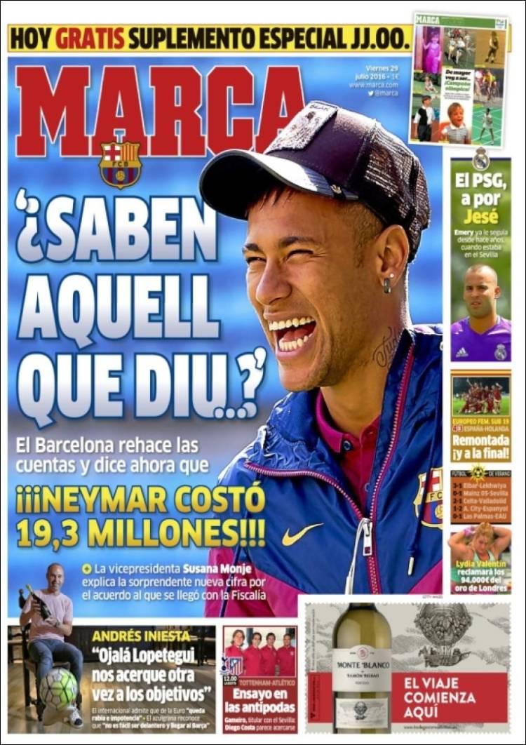 Marca Portada Neymar 29.07.16