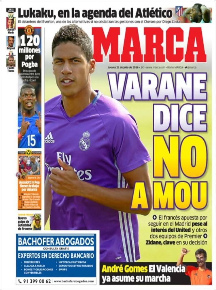 Marca Portada Varane 21.07.16