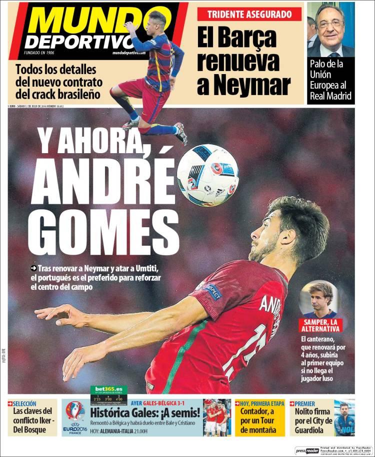 Mundo Deportivo Portada 02.07.16