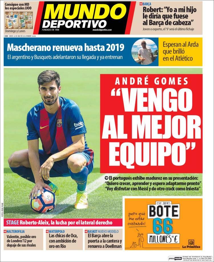 Mundo Deportivo André Luis 28.07.16