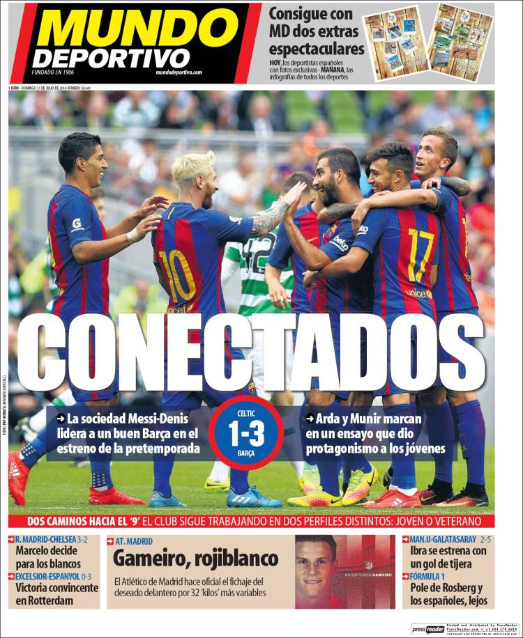 Mundo Deportivo Portada Conectados 31.07.16