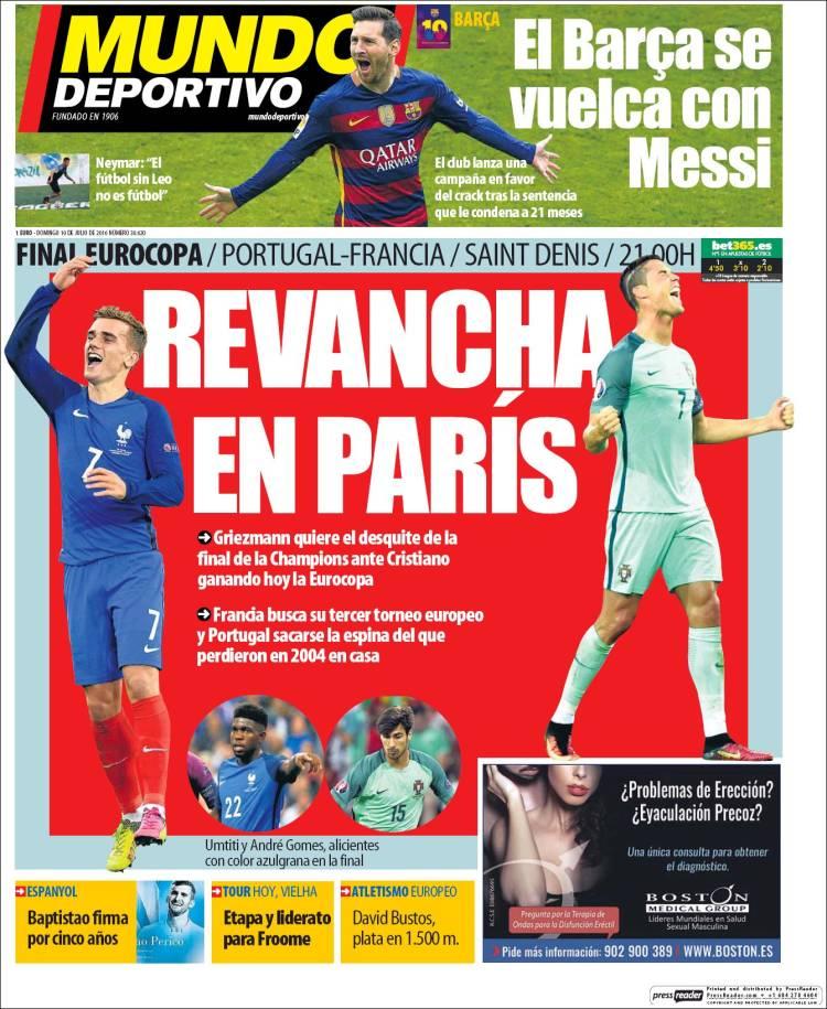 Mundo Deportivo Portada 10.07.16