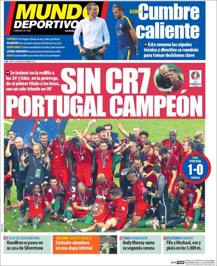 Mundo Deportivo Portada 11.07.16