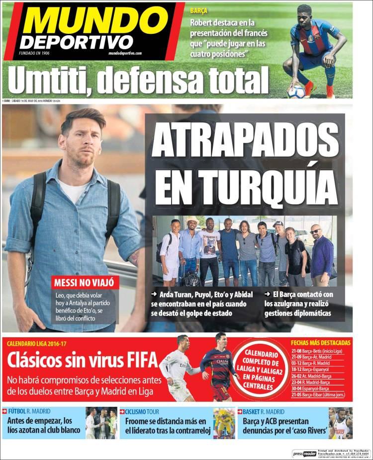 Mundo Deportivo Turquía 16.07.16