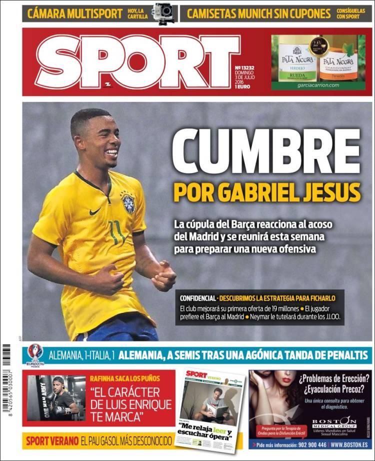 Sport Portada 03.07.16