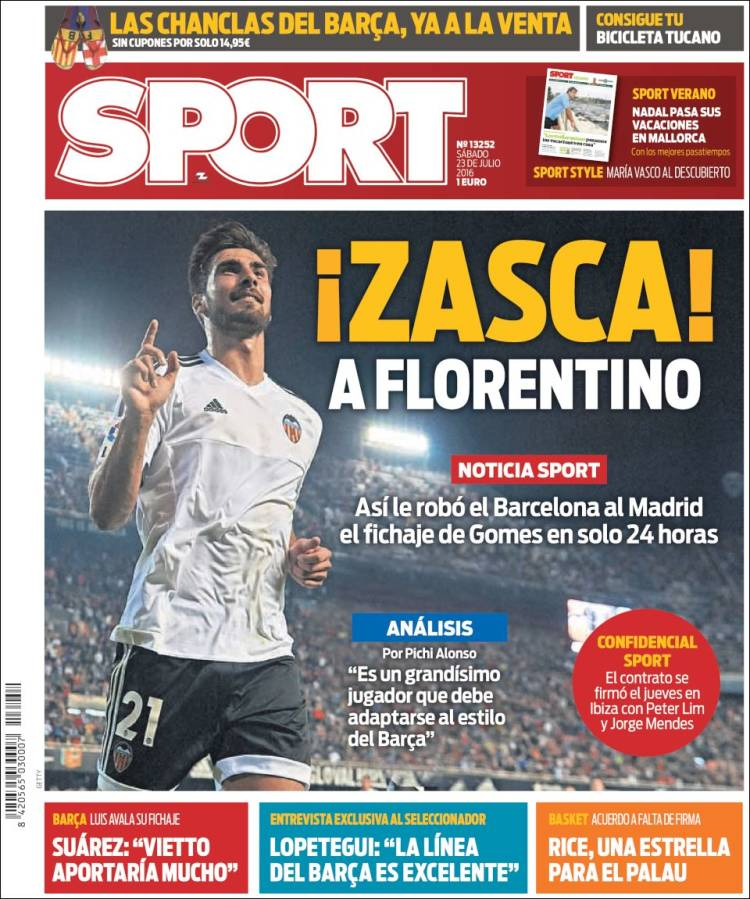 Sport Portada Florentino 23.07.16
