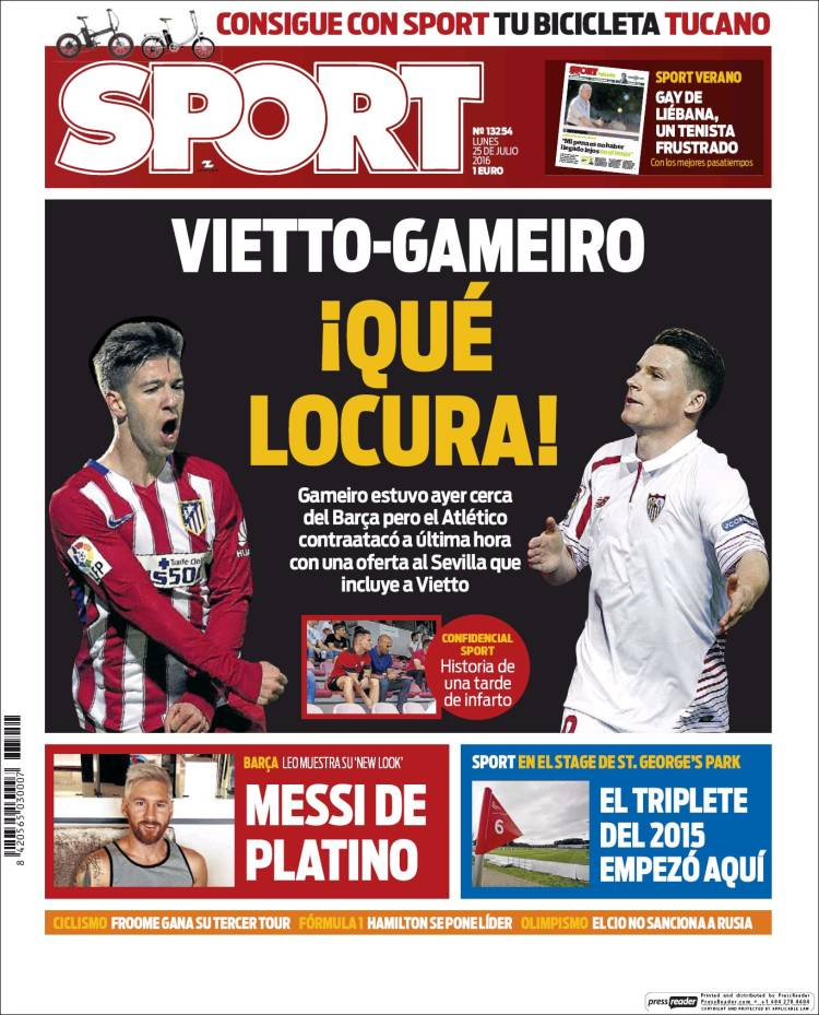 Sport Portada 25.07.16