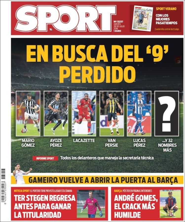 Sport Portada 28.07.16